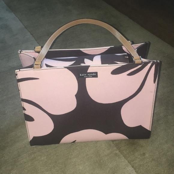 kate spade Handbags - Kate Spade New York Pink and Brown Floral Tote